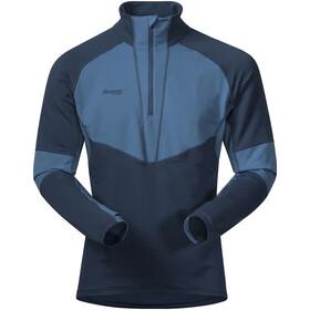 Bergans Roni Half-Zip Fleece Shirt Men steelblue/steelblue